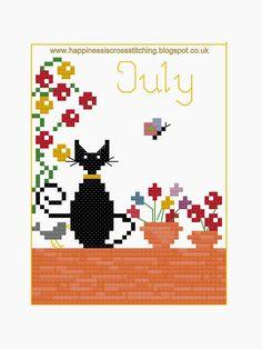 La felicità è il punto croce: Mini Cat Punto Croce Freebies