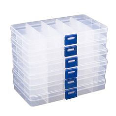 Clear Jewelry Box Plastic Bead Storage Container Earrings Storage Organizer with Adjustable Dividers 15 Compartments Each x x 4 Inches - Jewelry Storage - Ideas of Jewelry Storage Earring Storage, Bead Storage, Craft Storage, Storage Ideas, Wreath Storage, Plastic Container Storage, Container Organization, Storage Containers, Jewelry Tray