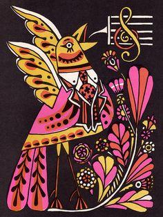 The Fireside Book of Children's Songs illustrated by John Alcorn (1966)