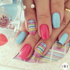 El Mundo de AiA Tribal Nails, Piercings, Gradient Nails, Nail Treatment, Beautiful Nail Art, How To Make Hair, Nail Arts, Manicure And Pedicure, Bling Nails