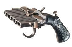 Rare Jarre Harmonica pistol, France, mid 19th century.