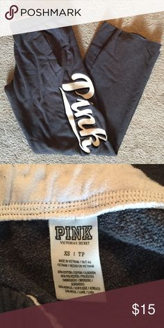 Pink by VS Gray Lounge Pants / Sweats Hardly worn, I just have too many sweats. Still super soft since they haven't been washed but a couple times. PINK Victoria's Secret Intimates & Sleepwear Pajamas