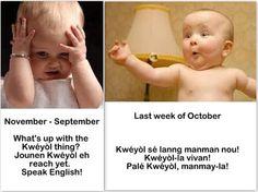 Kwéyòl hypocrisy and pretentious national pride.