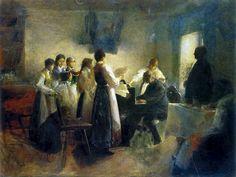 Ažbe, Anton, (1862-1905), The Village Choir, 1900, Oil