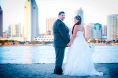 This couple had their ceremony just off the beach at Centennial Park, Coronado, overlooking downtown San Diego.