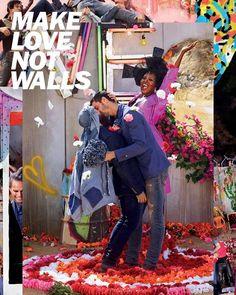 Para celebrar o Valentine's Day a @diesel acaba de lançar a campanha 'Make love not walls' (ou 'Faça amor não faça muros) mostrando o amor em suas diversas formas! Hoje um tanque inflável com as cores do arco-íris transmitirá uma mensagem de união em Londres e depois viaja para Milão Xangai NY Berlim e Tóquio chegando ao Brasil em maio. As fotos foram clicadas pelo icônico David LaChapelle.  #LOFFama  via L'OFFICIEL BRASIL MAGAZINE INSTAGRAM - Fashion Campaigns  Haute Couture  Advertising…