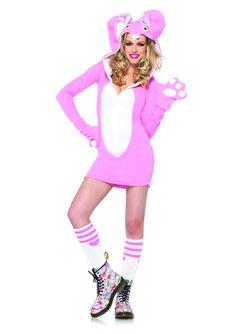 Leg Avenue Women's Cozy Bunny Costume, Pink, Medium