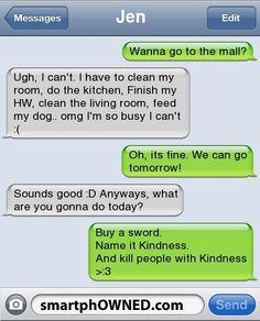 Funny Text Messages Clean 3 47 Jenwanna Go to the Mall Funny Text Message Jokes, Funny Text Messages Fails, Text Message Fails, Funny Texts Jokes, Text Jokes, Stupid Funny Memes, Funny Relatable Memes, Funny Quotes, Funny Wrong Number Texts