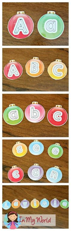 FREE Christmas Preschool Centers Alphabet Ornaments