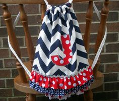 Custom Dance and Cheer Drawstring Backpack with by notverydomestic, $28.00 Cheer Backpack, Navy Chevron, Childhood Cancer, Green Accents, How To Raise Money, Auburn, Pink And Green, Drawstring Backpack, Monogram