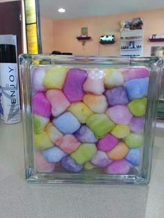 Colored cotton balls (dreams)