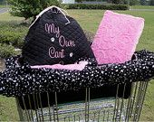 Shopping Cart Cover - Dogs - Pets - Includes Matching Tote - Embroidered Personalization. $69.00, via Etsy.