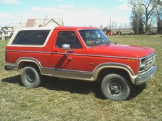 1984 Red Ford Bronco II