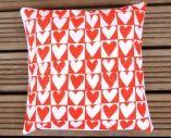 NEW Screen Printed Love Hearts Cushion