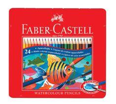 Faber Castell WaterColor 24 Color Pencils Set Tin Case 115930