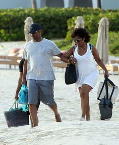 Denzel Washington with his wife Pauletta: The couple, who have been married for 29 years, held hands as they walked along the beach before boarding a yacht for a fun-filled day in the sun for his Birthday Dec. Denzel Washington, Celebrity Couples, Celebrity News, Black Love, Black Men, Kiss And Romance, Husband And Wife Love, Best Supporting Actor, Black Families
