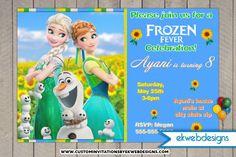 Frozen Fever Birthday Invitations - Custom Happy Birthday Anna Birthday Invites