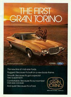 Items similar to 1972 Ford Gran Torino Car Ad Vintage Auto Advertisement Hardtop Retro Print Garage Wall Art Gift for Him on Etsy Ford Torino, Mid Size Car, Ford Classic Cars, Classic Auto, Car Advertising, Us Cars, Race Cars, Old Ads, Car Ford