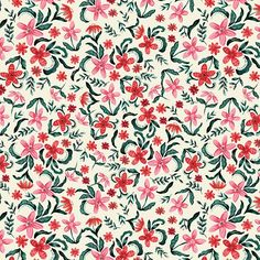 Click to see all the beautiful patterns created by Kate Eldridge. Floral patterns, flower pattern design, floral pattern inspiration, small flowers, red flowers Flower Pattern Design, Pattern Designs, Surface Pattern Design, Flower Patterns, Design Lab, My Design, Print Design, Small Flowers, Red Flowers
