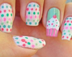 Cupcake Nail Art | Nail Art Designs & Ideas