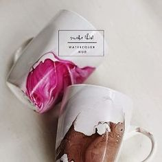 Bored of your plain white porcelain mugs? Add a splash of color with this easy DIY tutorial!