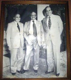 Luis Piñerua Ordaz, Rómulo Betancourt y Carlos Andres Perez.