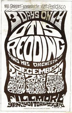 Classic 1960s Concert Poster (Fillmore Auditorium, San Francisco, CA) — Otis Redding