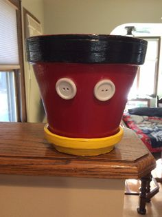 Mickey Mouse Inspired Flower Pot by JTMommaPhotography on Etsy