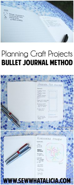 25a1cfb9c11 Planning Craft Projects - Bullet Journal Style