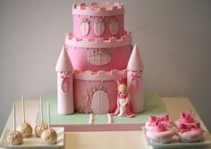 Princess Castle Cake - perfect for a little girls birthday!