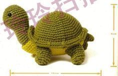 Amigurumi Crocheted Turtle - free crochet pattern