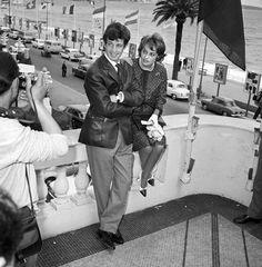 Jean Paul Belmondo et Jeanne Moreau (Cannes 1960)