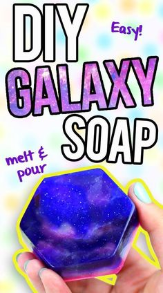 Wash your skin with a little outer space. This homemade galaxy . Wash your skin with a little outer space. This homemade galaxy soap is much easier to make than you thi. Galaxy Projects, Galaxy Crafts, Bath Recipes, Soap Recipes, Diy Galaxie, Savon Soap, Soap Tutorial, Diy Spa, Home Made Soap