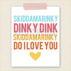 Skiddamarinky Dinky Dink Art Print  Kids Room by BabyBirdandBubBub, $15.00