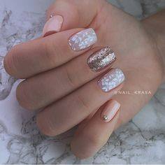 Дизайн ногтей тут! ♥Фото ♥Видео ♥Уроки маникюра Classy Nails, Fancy Nails, Trendy Nails, Dream Nails, Love Nails, My Nails, Gelish Nails, Nail Manicure, Beige Nails