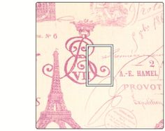 Eiffel Tower Paris French Shabby Chic Stamp Lounge a Light Switch Cover Sticker