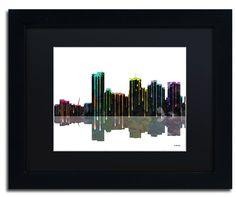Phoenix Arizona Skyline by Marlene Watson Framed Graphic Art