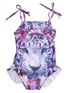8f29e60581835 Tiger Girl Kids Bathing Suit Swimwear Bikini Tankini Swimsuit Swimming  Costume