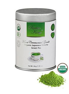 DOCTOR KING Finest Ceremonial Grade Organic Japanese Matcha Green Tea  Top Grade Ceremonial Grade A  First Harvest Matcha  Specialty Tea  Artisan Matcha  Made in Japan  Perfect For Making Healthy Matcha Green Tea  Net Weight 30 g  Boxed >>> You can get more details by clicking on the image.Note:It is affiliate link to Amazon.
