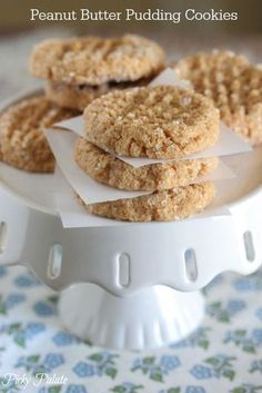 Peanut Butter Pudding Cookies...only 3 ingredients!  A family favorite cookie! #cookies #peanutbutter