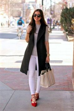 Long vest outfit-Smart casual wear for summer – Just Trendy Girls