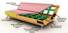 materiales para hacer un sofa de madera - Buscar con Google