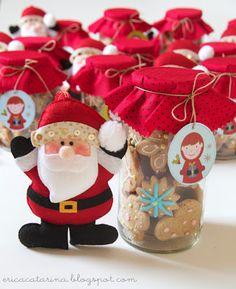 Biscoitos no potinho para o Natal