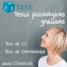 Tests psicológicos gratuitos @ https://www.123test.es/ #testdeci #personalidad