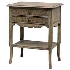 Uttermost Doherty Driftwood Side Table in Brown