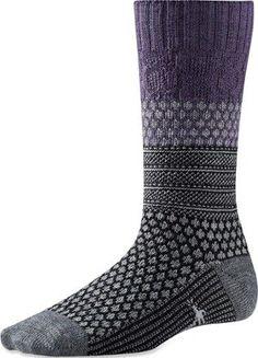Smartwool Women's Popcorn Cable Socks Desert Purple Heather L