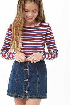 Outfits for kids Minifalda De Mezclilla – Niñas – Nuevos – 2000293951 – Forever 21 EU Español Jeans-Minirock - Mädchen - Neu - 2000293951 - Forever 21 EU Spanish - Legging Outfits, Cute Outfits With Leggings, Cute Skirt Outfits, Fall Outfits For Teen Girls, Teenage Girl Outfits, Cute Outfits For Kids, Back To School Outfits For Kids, Preteen Fashion, Fashion Kids