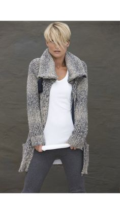 ✚ chunky sweater OMG!! Love this cardigan! Would look so great with a lacy silk chemise under it (with the jeans).