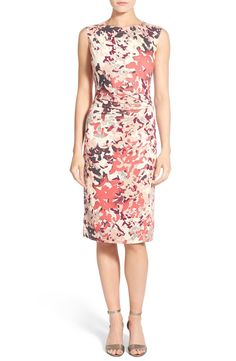 b979a41f Free shipping and returns on NIC+ZOE 'Petal Showers' Twist Sheath Dress  (Regular & Petite) at Nordstrom.com. A twist of pleats nips in the waist  while ...