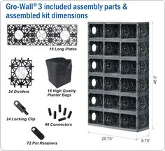 Gro-Wall Vertical Gardening System - RainHarvest Systems Online Store for Rainwater Collection, Filtering and Sustainable Re-use.